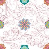 Abstract floral seamless background. On vector graphic art Royalty Free Illustration