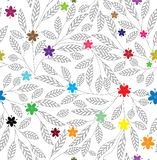 Abstract floral seamless background vector illustration