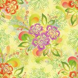 Abstract floral seamless background Stock Image