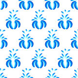 Abstract  floral seamless background. Pattern with folk art flowers, blue white gzhel ornament. Can be used for banner, card, poster, invitation, label, menu Royalty Free Stock Image