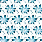 Abstract  floral seamless background. Pattern with folk art flowers, blue white gzhel ornament. Can be used for banner, card, poster, invitation, label, menu Royalty Free Stock Photos