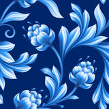 Abstract floral seamless background, pattern with folk flowers Royalty Free Stock Images