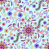 Abstract Floral Seamless Background Stock Images