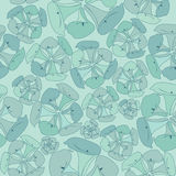 Abstract floral seamless blue pattern Stock Images