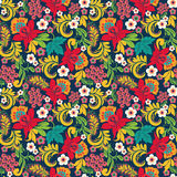 Abstract Floral seamless onate pattern in style Hohloma  Stock Photo