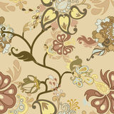 Abstract floral  seamless pattern Stock Photos