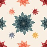 Abstract floral seamless pattern background. Design for textiles. Vector illustration Royalty Free Stock Photos