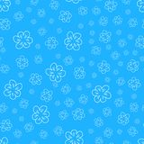 Abstract floral Seamless pattern on blue background. For prints, greeting cards, invitations, wedding, birthday, party, Valentine. 's day. Vector illustration Stock Photography