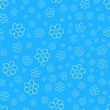 Abstract floral Seamless pattern on blue background. For prints, greeting cards, invitations, wedding, birthday, party, Valentine. 's day. Vector illustration Stock Photo