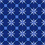 Abstract floral seamless pattern, blue white gzhel trellis, lattice Royalty Free Stock Photography