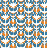 Abstract floral seamless pattern. Classic ornament. In retro style Royalty Free Stock Photo