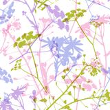 Abstract floral seamless pattern with flowers royalty free illustration
