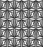 Abstract floral seamless pattern. Geometric line black ornament. Royalty Free Stock Photo