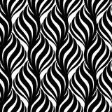 Abstract floral seamless pattern. Geometric line white ornament. Stock Photography