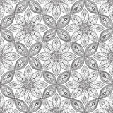 Abstract floral seamless pattern. Geometric ornament texture. Or Stock Images