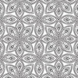 Abstract floral seamless pattern. Geometric ornament texture. Or Royalty Free Stock Photos