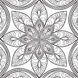 Abstract floral seamless pattern. Geometric ornament texture. Or Royalty Free Stock Image