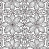 Abstract floral seamless pattern. Geometric ornament texture. Royalty Free Stock Photo