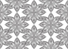 Abstract floral seamless pattern. Geometric ornament texture. Stock Photos