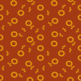 Abstract floral seamless pattern. Abstract pattern of indonesian batik Royalty Free Stock Photography