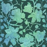 Abstract floral seamless pattern with leaves and flowers. Ornament.