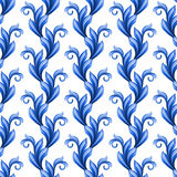 Abstract floral seamless pattern, leaves ornamental background Royalty Free Stock Photo