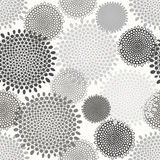 Abstract floral seamless pattern. Monochrome background Royalty Free Stock Photos