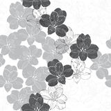Abstract floral seamless pattern. Monochrome  background w Royalty Free Stock Photo
