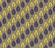 Abstract floral seamless pattern with ornamental leaves. Leaf wh. Ite background. Floral line art wallpaper decor Royalty Free Stock Photo