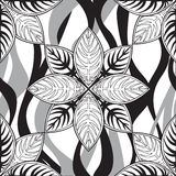 Abstract floral seamless pattern. Tiled geometric background Royalty Free Stock Photo