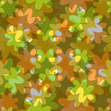 Abstract floral seamless pattern. With translucent colors royalty free illustration
