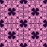 Abstract floral seamless pink Pattern on violet - for design Royalty Free Stock Images