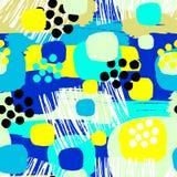 Abstract floral seamless rough grunge pattern, modern design tem Stock Illustration