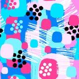 Abstract floral seamless rough grunge pattern, modern design tem Vector Illustration