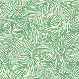 Abstract floral seamless texture with fern leaves Stock Photos