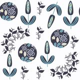 Abstract floral seamless vector pattern. It is located in swacth Stock Photography