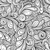 Abstract floral shapes seamless pattern Stock Photos