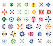 Abstract Floral Shapes. This is a set of Abstract Floral Shapes Stock Photography