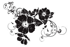 Abstract floral silhouette Stock Image