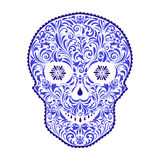 Abstract floral skull stock illustration