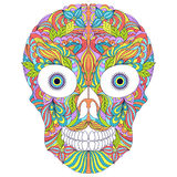 Abstract  floral skull on white background. Stock Photography