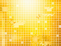 Abstract floral square mosaic background Stock Image