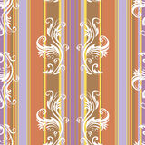 Abstract floral stripes background (vector) Royalty Free Stock Photo
