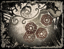 Abstract floral style old paper textures Stock Photo