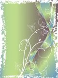 Abstract floral swirl blue. Abstract floral swirl glitter blue green background Stock Photo