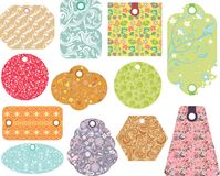 Abstract floral tags Stock Photography