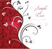 Abstract floral template. Abstract floral template in red stock illustration
