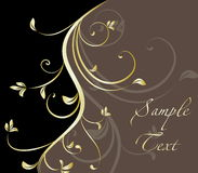 Abstract floral template with place for your text Royalty Free Stock Photography