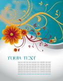 Abstract floral template with place for your text Stock Photography