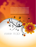 Abstract floral template with place for your text Stock Images